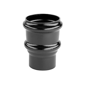 Alutec Tudor 76mm Pipe Socket Non Eared Heritage Black