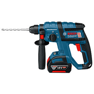 Bosch 18V Cordless SDS-Plus Brushless 3 Mode Rotery Hammer Drill 2 X 4.0Ah Li-Ion Batteries 611904072