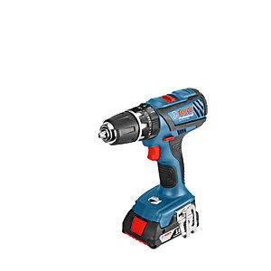 Bosch GSB 18V Li-ion Professional Compact Combi Drill Set 2 X 3.0Ah Batteries and Accessories
