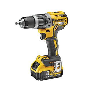 DeWalt 18V XR Compact Brushless Combi Drill 1 x 5.0AH Li-Ion Battery DCD796P1-GB