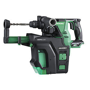 Hikoki 36V Multivolt Rotary Hammer Drill 28mm with Dust Collection System  3 x 2.5AH Li-ion Batteries DH36DPBJKZ