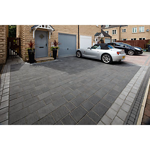 Drivesys Patented Driveway System Flamed Stone Paving  -5.51m2 5 Mixed Size Project Pack