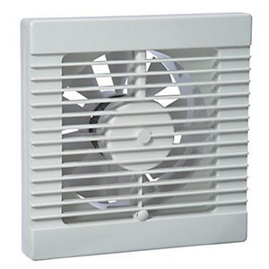 Manrose White 150mm/6 Timer Fan Blister Pack