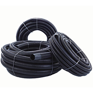 Twinwall Black Cable Protection Ducting 40/63 50m Coil