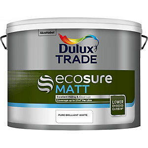 Dulux Ecosure Matt Paint Pure Brilliant White
