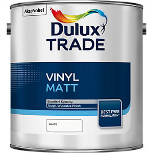 Dulux Trade Vinyl Matt Emulsion Paint White 10L