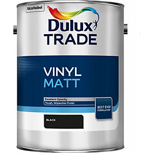 Dulux Trade Vinyl Matt Paint Emulsion Black