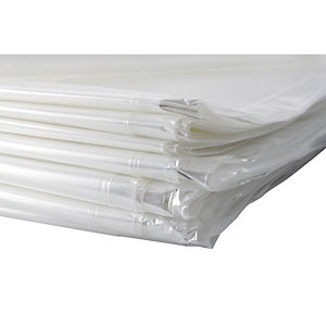 4TRADE Polythene Dust Sheet 3.6m x 3.6m Pack of 10