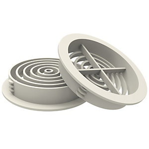Manthorpe G700WH Circle Soffit Vent White
