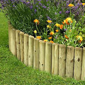 Forest Garden Log Roll Pressure Treated 1800mm x 300mm