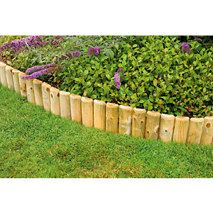 Forest Garden Log Roll Pressure Treated Edging 1800mm x 225mm