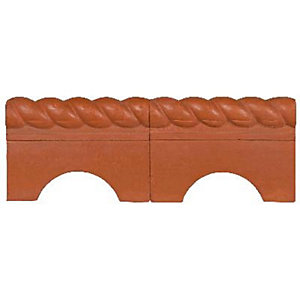 Marshalls Antique Terracotta Rope Edging 465mm x 170mm x 50mm