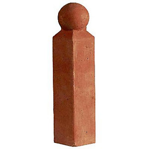Marshalls Victorian Red/Black Edging Corner Post 60mm x 60mm x 280mm