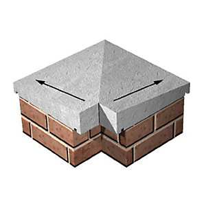 Supreme Concrete Once Weathered Coping 230 External Corner COP208