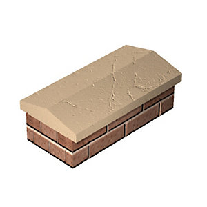 Twice Weathered Coping Yorkstone Buff 275mm x 600mm