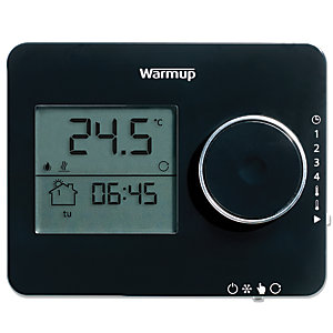 Warmup Tempo Thermostat Piano Black