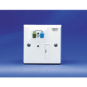 Volex White Moulded 13A Fused Connection Unit with 30mA RCD Protection