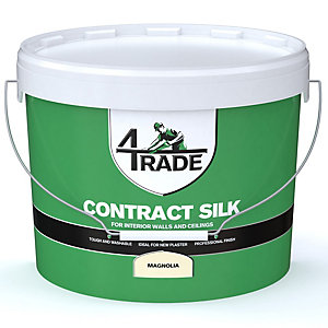 4TRADE Contract Silk Emulsion Paint Magnolia 10L