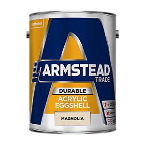 Armstead Trade Durable Acrylic Quick Drying Paint Eggshell Magnolia 5L