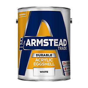 Armstead Trade Durable Acrylic Quick Drying Paint Eggshell White 5L