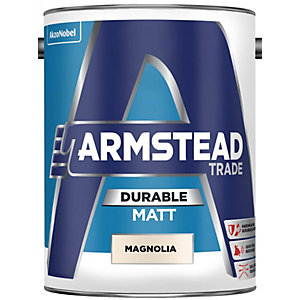 Armstead Trade Durable Matt Paint Magnolia 5L