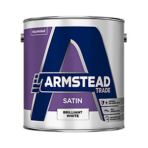 Armstead Trade Satin Paint Brilliant White 2.5L