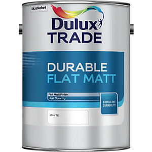Dulux Durable Flat Matt Paint White 5L
