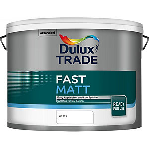 Dulux Fast Matt Paint White 10L