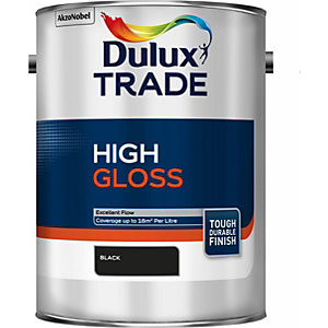 Dulux Paint Trade High Gloss Paint Black 5L