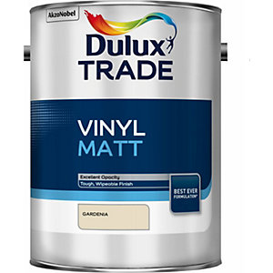 Dulux Trade Vinyl Matt Emulsion Paint Gardenia 5L