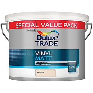 Dulux Trade Vinyl Matt Paint Magnolia 7.5L
