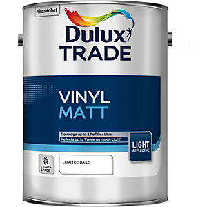 Dulux Vinyl Matt Light & Space Paint Absolute White 5L