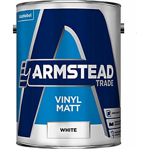 Glidden Trade Vinyl Matt Emulsion Paint White 5L