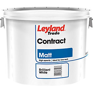 Leyland Contract Matt Paint Brilliant White 10L