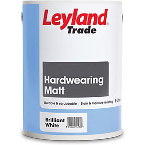 Leyland Hardwearing Matt Paint Brilliant White 5L