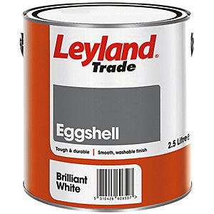 Leyland Trade Eggshell Paint Brilliant White 2.5L