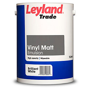 Leyland Vinyl Matt Paint Brilliant White 5L