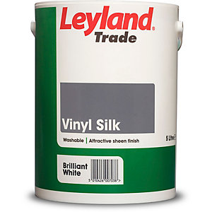 Leyland Vinyl Silk Paint Brilliant White 5L
