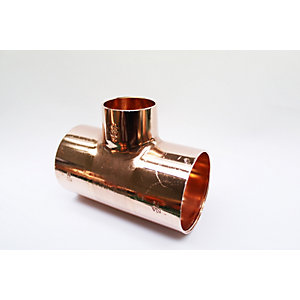 Jw Copper Endfeed Tee Reduced Branch 54mm x 54mm x 35mm