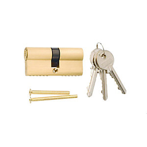 4Trade 6 Pin Euro Cylinder Lock 35/35mm Brass