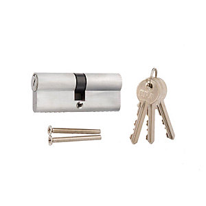 4Trade 6 Pin Euro Cylinder Lock 35/35mm Satin