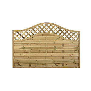 Europa Prague Pressure Treated Fence Panel