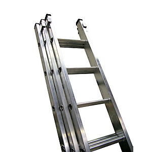 Lyte Class 1 Professional 3 Section Extension Ladder 2.43m - 5.96m 9 Rung