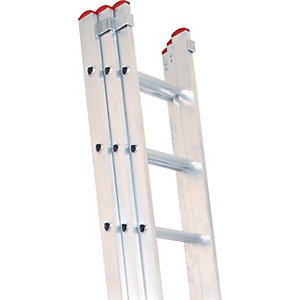 Lyte EN131-2 Non-Professional 3 Section Extension Ladder 3x7 Rung