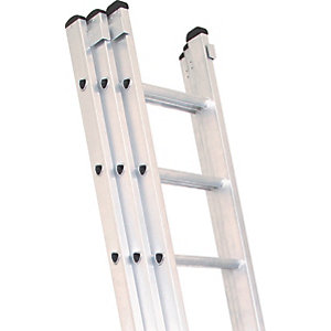Lyte Industrial EN131-2 Professional 3 Section Extension Ladder 3x7 Rung