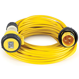 Birchwood Defender Extension Lead 10m 16 Amp 110 Volts E85118