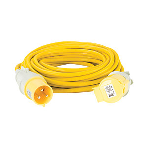 Defender 110V 32A 4 mm 14m Yellow Extension Lead