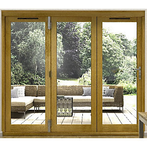 54mm Folding Doors Prefinished Solid Oak 16 ft (4.9 M)