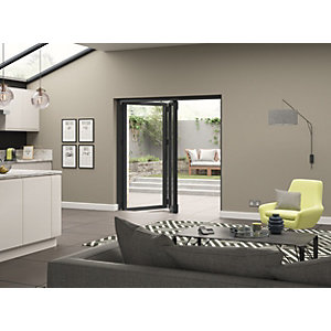 Aluminium External Grey Left Opening Bifold Door Set 1790mm wide