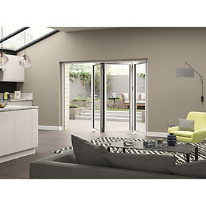Aluminium External White Left Opening Bifold Door Set 2090mm wide